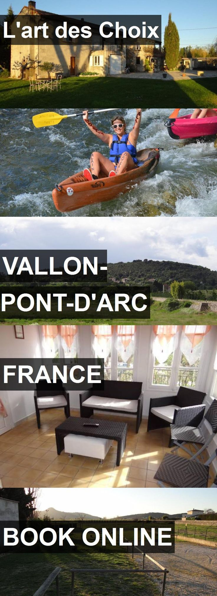 Hotel L'art des Choix in Vallon-Pont-d'Arc, France. For more information, photos, reviews and best prices please follow the link. #France #Vallon-Pont-d'Arc #travel #vacation #hotel