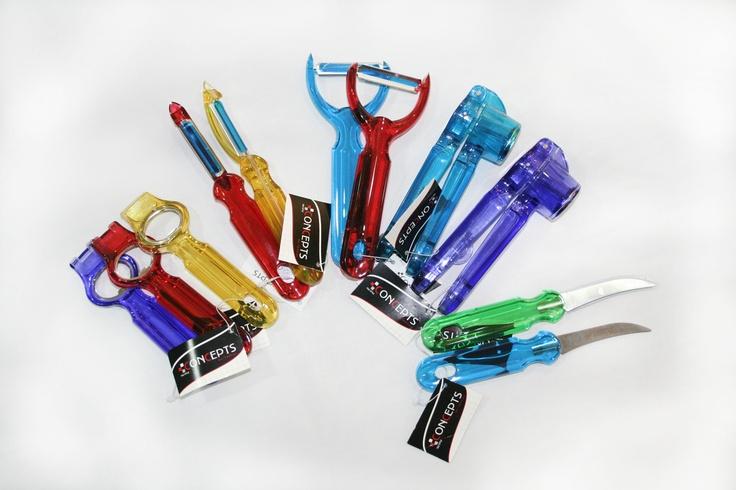 Accesorios para la cocina, de plástico y coloridos