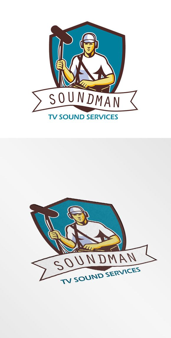 Soundman TV Sound Services Logo by patrimonio on Creative Market
