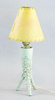 Lampka porcelit, szkliwo zbiegające wym.: wys. 29 cm Cena wywoławcza: 700 zł Rempex 22.10.2011