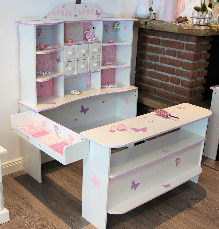 Kaufladen weiß rosa lila