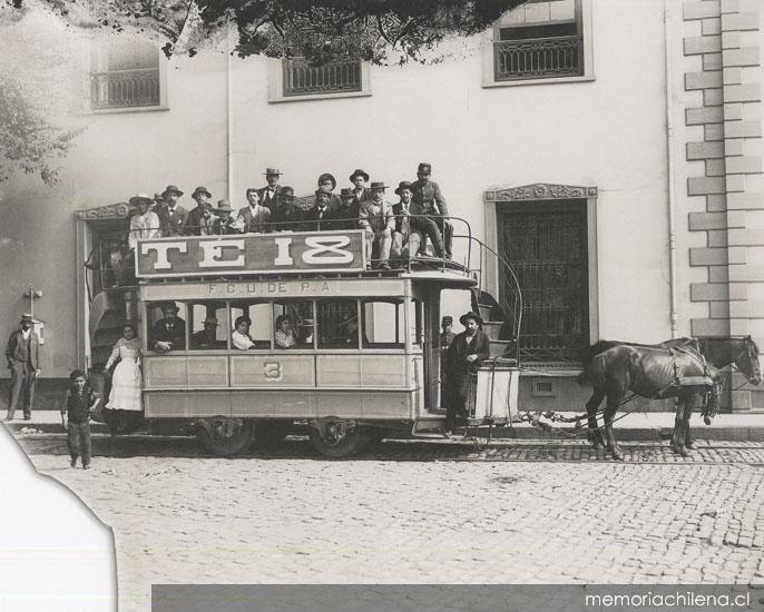 Chile, Valparaiso. Ferrocarril urbano de Playa Ancha, ca. 1900