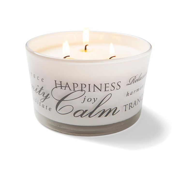 Frosted Word Candle   Kmart