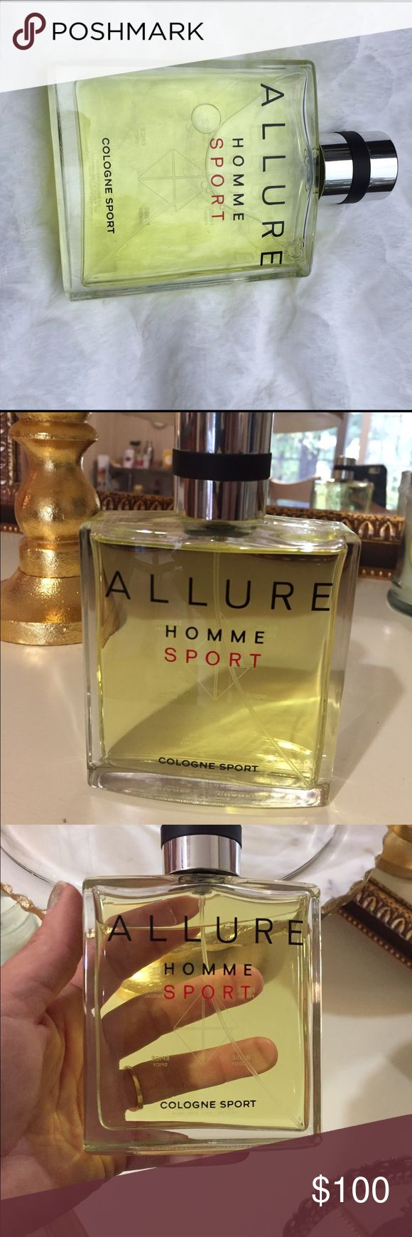 Chanel Allure Homme Sport Cologne 5 oz Authentic This is a new Tester bottle of full size 150ml / 5oz. Chanel Allure Sport Cologne for men. My fiance got it as a gift. Selling to help pay for our wedding lol. It is Guaranteed Authentic. CHANEL Other