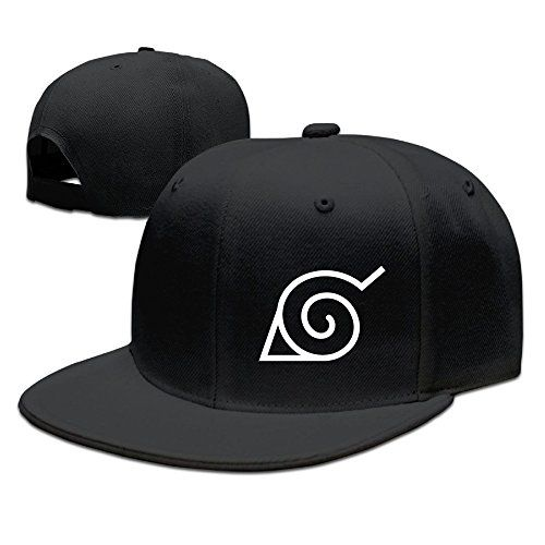 CEDAEI Japanese Comic Village Logo Naruto Shippuden Flat Bill Snapback Adjustable Mountaineering Cap Hat Black -- Want to know more, click on the image.