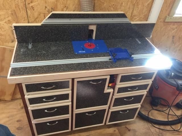 Router table - Woodworking creation by Jeff - WoodworkingWeb