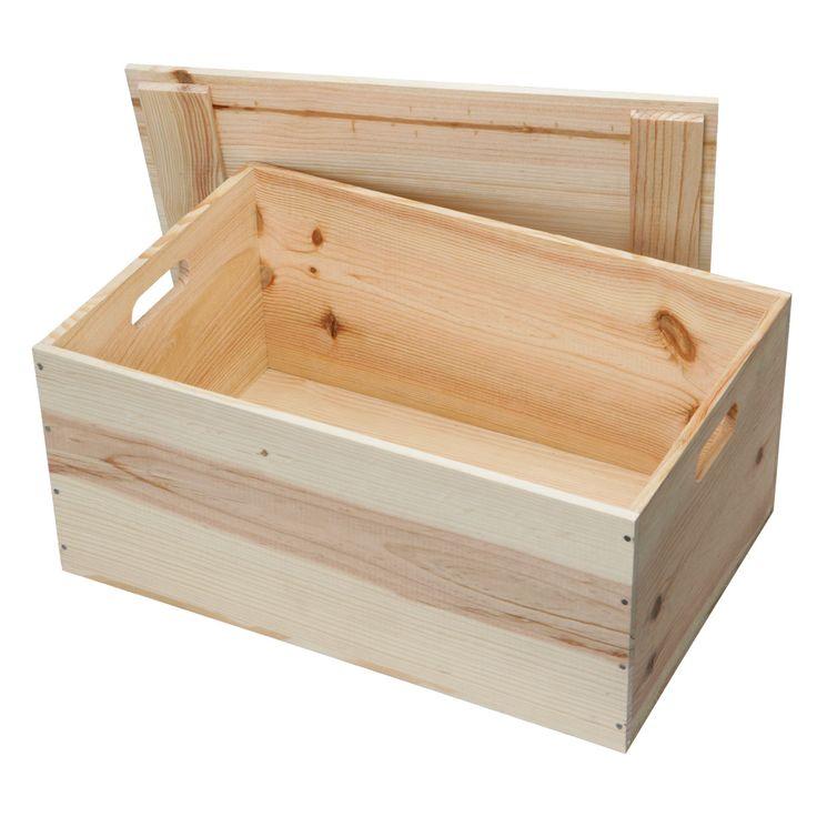 Large Wooden Hamper Box - Wooden Hamper Boxes - WBC