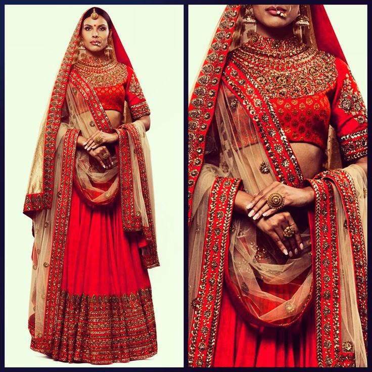 Bridal lehenga from the master of great color combinations and hand embroidery - Sabyasachi Mukherjee. For Store details visit http://www.myweddingbazaar.com/vendor.php?vendor_type=Designer%20Collection&page=?tpages=2&page=1