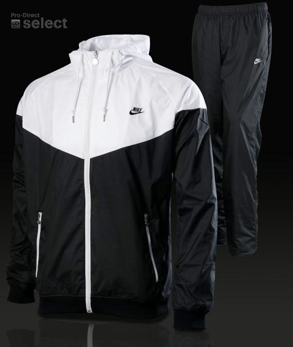 black and white nike tracksuit