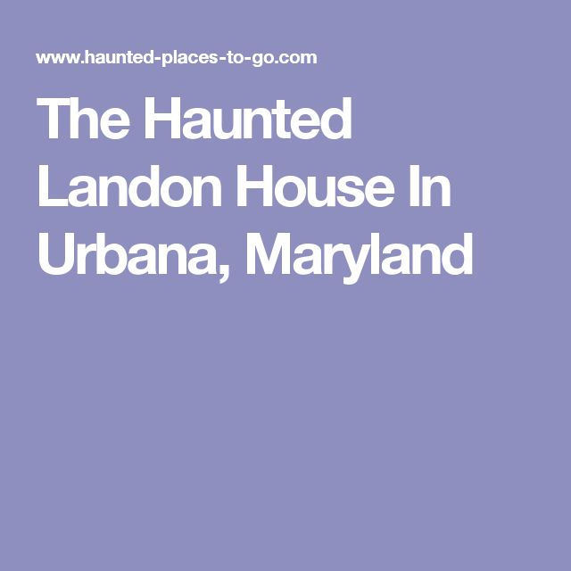 15 best Frederick County, MD Hauntings images on Pinterest ...