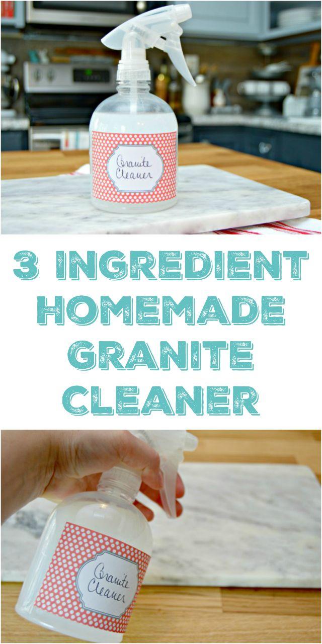 Homemade Granite Cleaner - Safe for granite countertops! via @Mom4Real