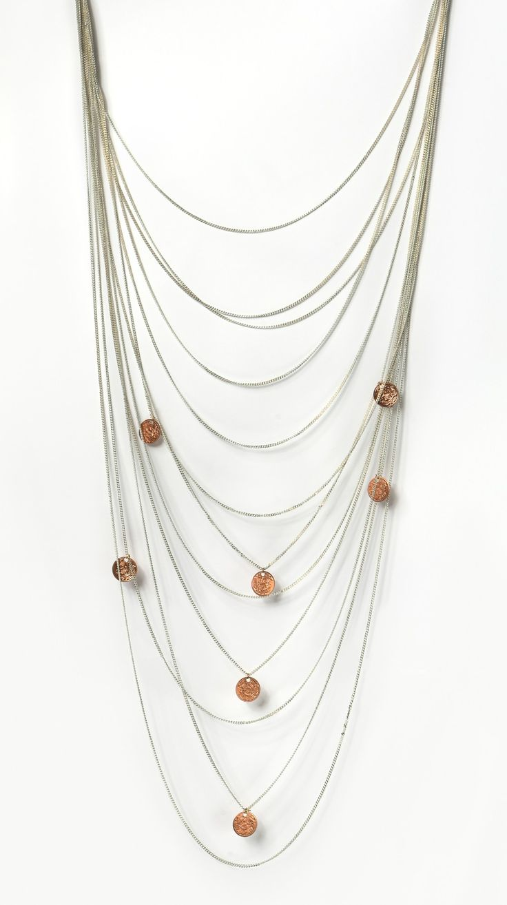 Nueva York Coin Necklace in Silver via Hermina Wristwear. Click on the image to see more!