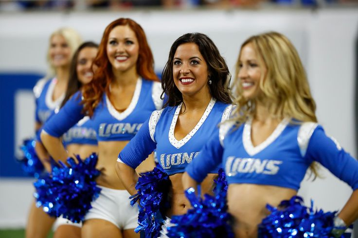 The Detroit Lions cheerleaders are seen during the first half of an NFL football game between the Detroit Lions and the Tennessee Titans, Sunday, Sept. 18, 2016, in Detroit. (AP Photo/Paul Sancya)