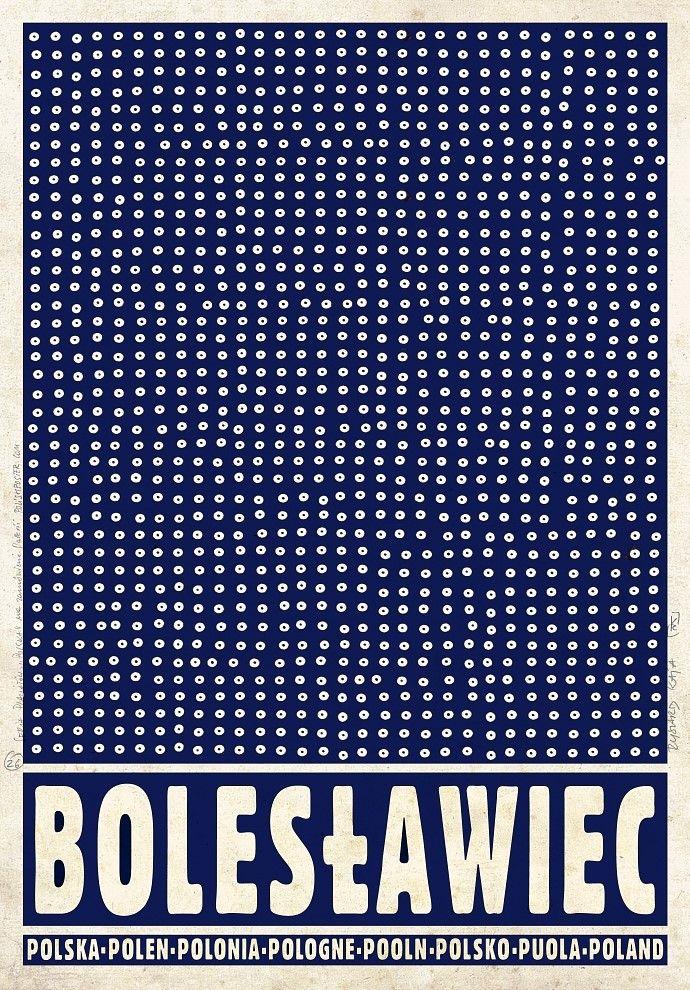 Plakat BOLESŁAWIEC z serii POLSKA Ryszard Kaja - 4442404493 - oficjalne archiwum allegro