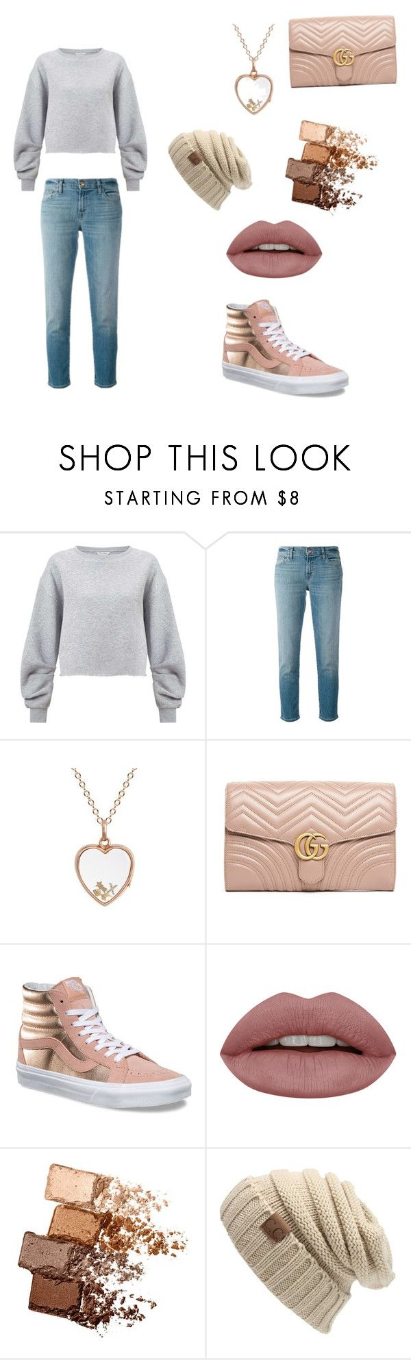 """""""Cute School Outfit"""" by torilove734 ❤ liked on Polyvore featuring Miss Selfridge, J Brand, Loquet, Gucci, Vans and Maybelline"""