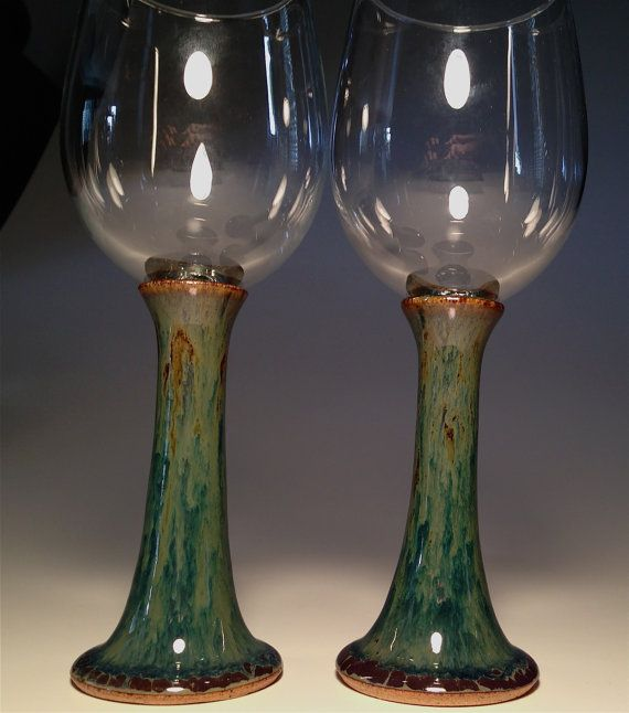 handcrafted pottery wine glasses handmade glass by