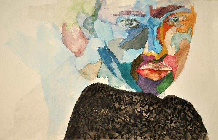 by valentini mavrodoglou ink on fabrianno paper #art #femaleartist  #valentinimavrodoglou #watercolors