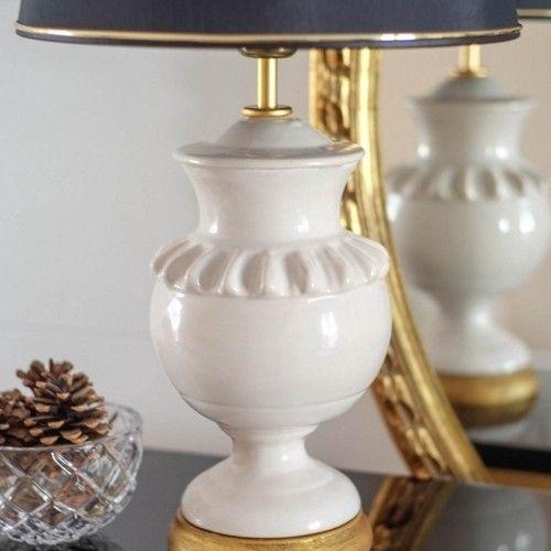 Lámpara Redonda - Round Lamp   via Antique Ceramics www.lcvgimeno.es/ceramica/interiorismo