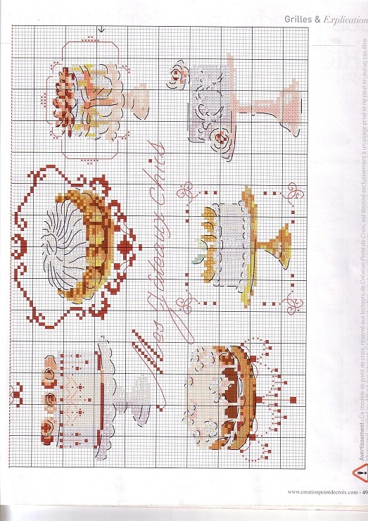 Cross stitch pattern. Please, check the board I got these from if you're looking for more free patterns. I really don't want to be a pin stalker lol.