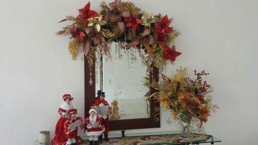 Decoracion De Baños Navidena:Espejos