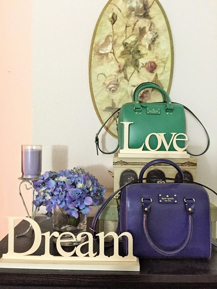 Green and Purple Kate Spade Alessa