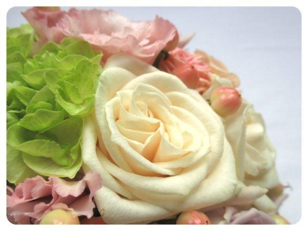 Pasztell menyasszonyi csokor részlet