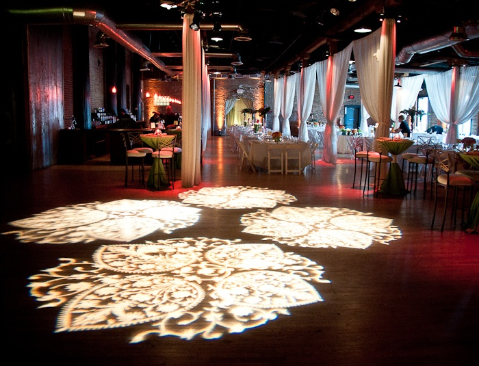 diy wedding lighting. textured lighting on the dance floor created using 4 gobo projectors i like these lights very useful for walls ceilings floors diy wedding w