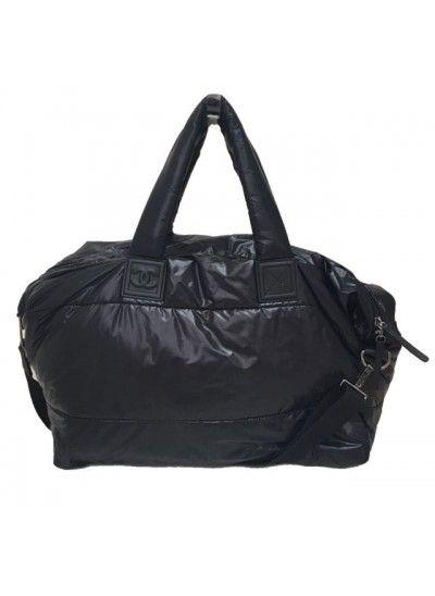 7ebdadc75 VENDIDA: Mala Chanel Cocoon Weekend tamanho grande, o modelo confeccionado  em nylon, dulpa