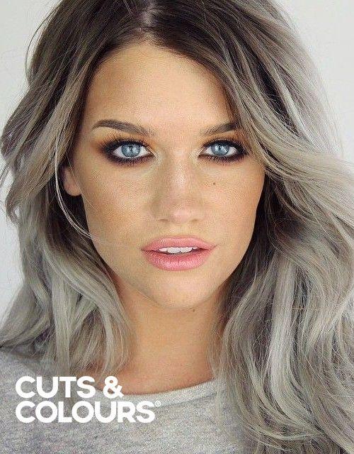 As en grijs haar   Kleuring   Lang haar   CUTS & COLOURS