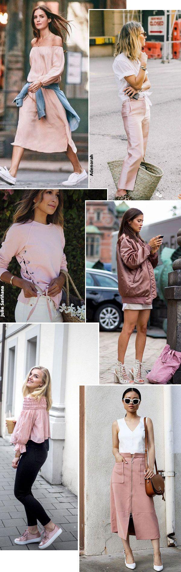Street style look rosa blush.