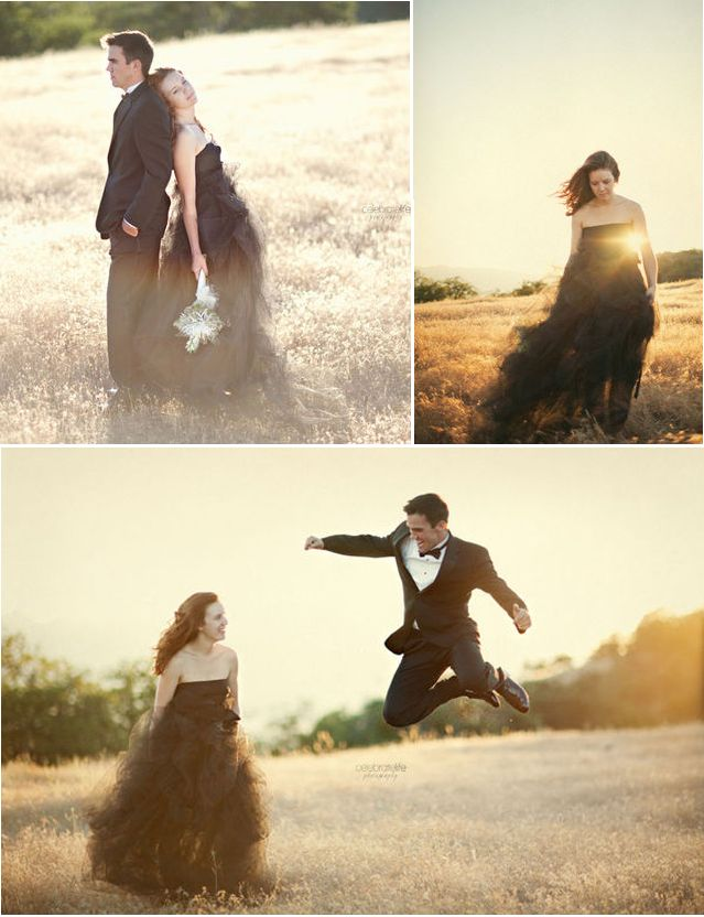 Stefan Sisters: October 2011 formal bridal shoot (tulle and a black dress + pins)
