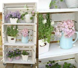 Leuk deze houten kistjes voor in de tuin of voor op het balkon :)