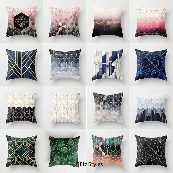 Geometric Fashion Throw Pillow Cover Throw Pillow Styling