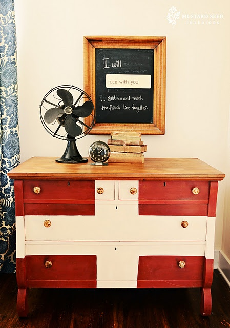 Swiss dresser: Emperor's Silk and Old White. Stain and wax top. Tortoise shell knobs Hobby Lobby.