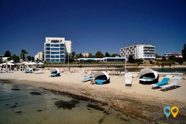 Private beach at #HotelInter Venus #Romania