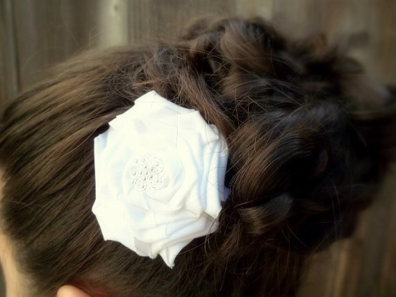 Gorgeous Fabric Flower Bridal Hair Piece!!! <3