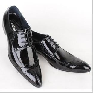 Свадебные туфли мужские лакированные