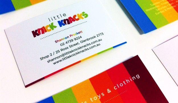 Little Knick Knacks business cards - fun and joyful!