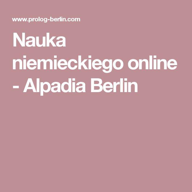 Nauka niemieckiego online - Alpadia Berlin