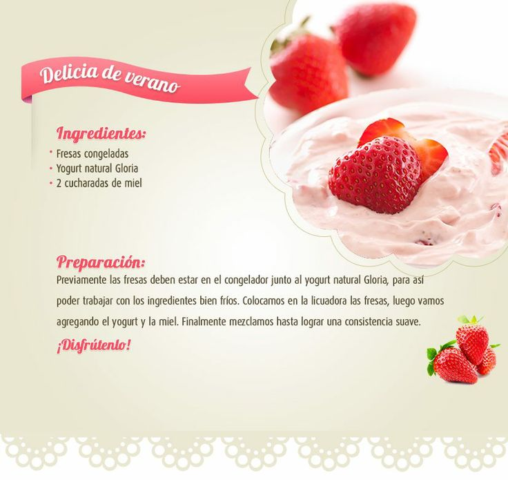 ingredientes para el yogurt
