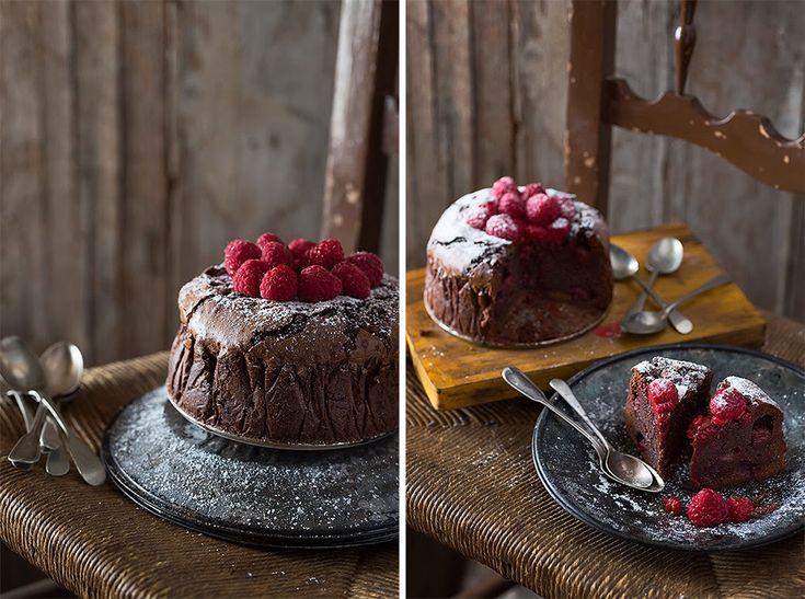 bizcocho de chocolate y frambuesa la mezcla perfecta