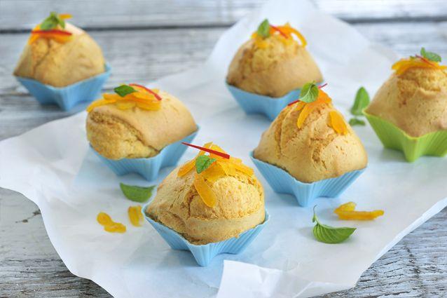 Pittige mango-sinaasappelmuffins met rode peper