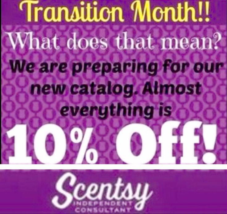 """Only a few more days to take advantage of """"transition month"""" 10% off sale prices! (We are transitioning from Spring/Summer to Fall/Winter 2016 scents, warmers, etc)   ⭐️Shop online at  https://tressalynne.scentsy.us/?partyId=312536447 #ScentsyLove  #Scentsy"""