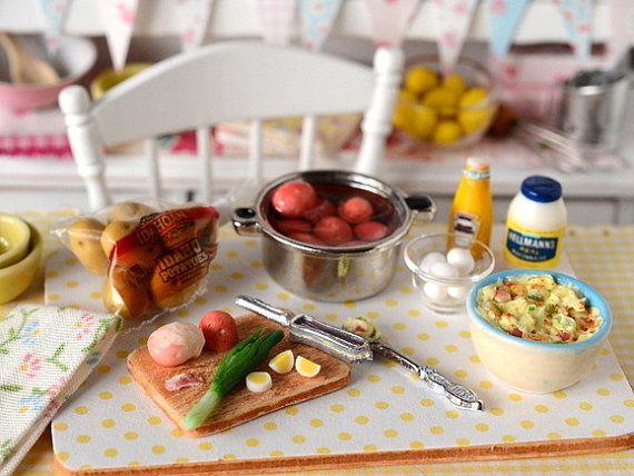 Miniature Making Potato Salad by CuteinMiniature on Etsy