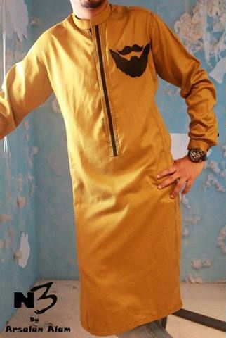 Color - Gold #Kurta For #Men #style #fashion #menswear #onlinemela Order Now: +92-334-333-6352