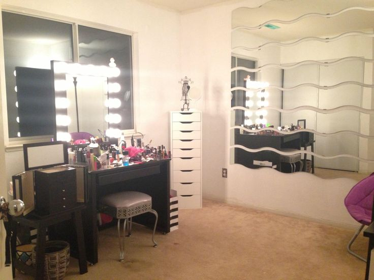 My Makeup Room Alex9 Drawers Vanity Girl Hollywood And Ikea Mirrors. | Makeup Room | Pinterest ...