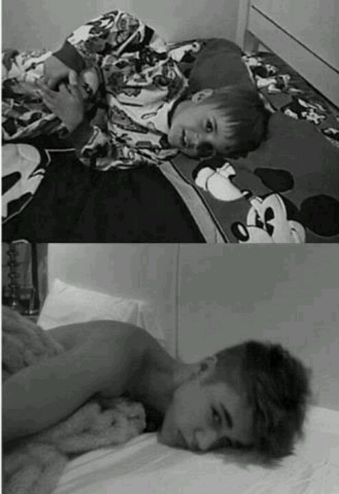 awwww:) its funny how hes just the same as he wuz when he wuz little except hes taller and looks a little different<3
