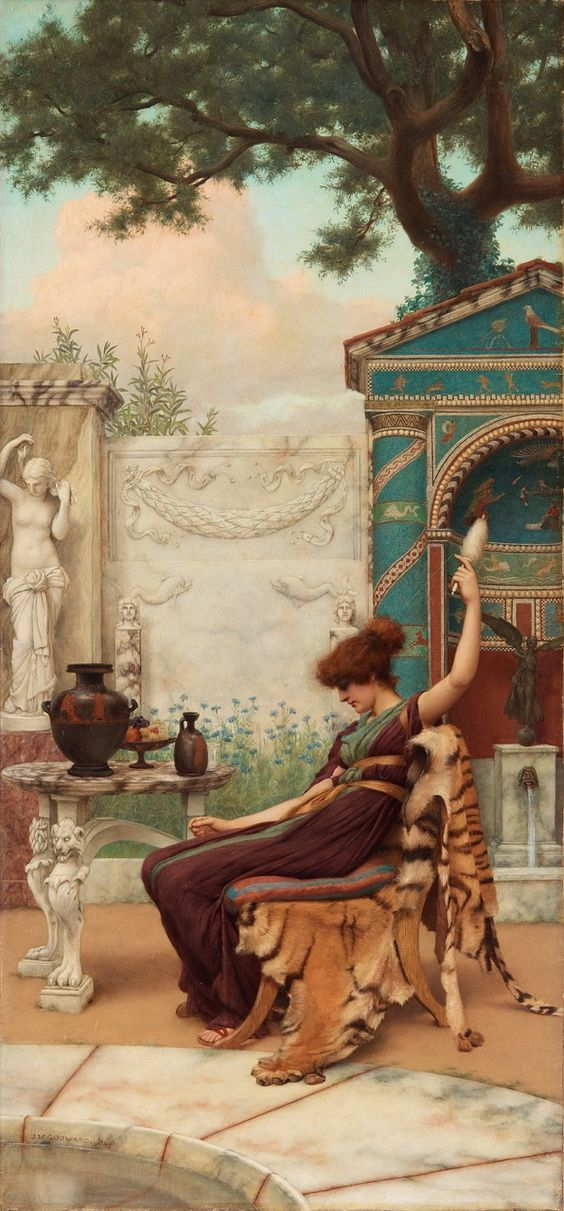 Winding Wool (1894) by John William Godward
