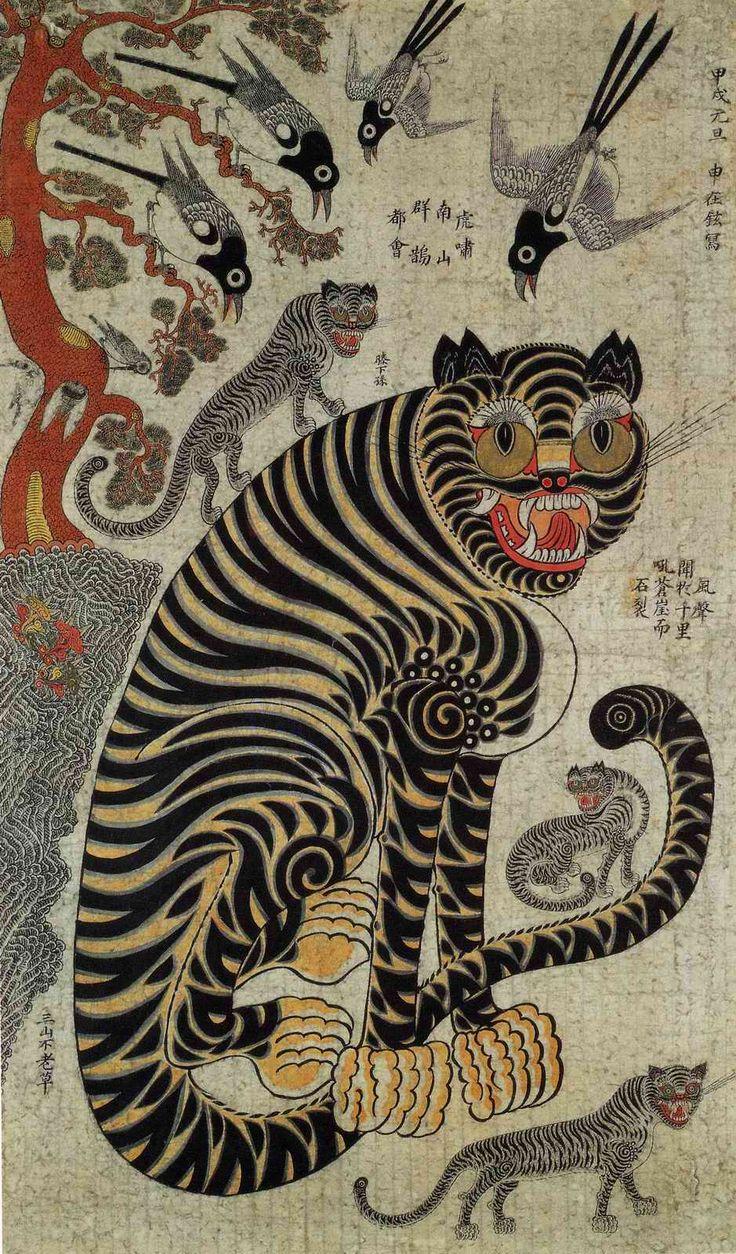 朝鮮民画「虎図」