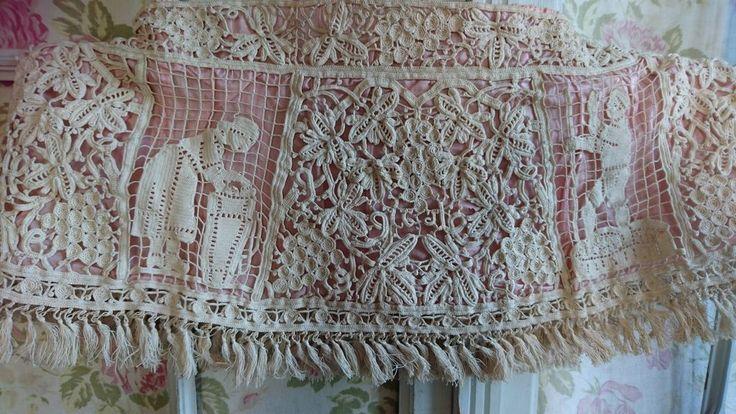 Изысканный старинный французский handworked кружевной абажур чехол на подкладке с шелковой c1900 | eBay